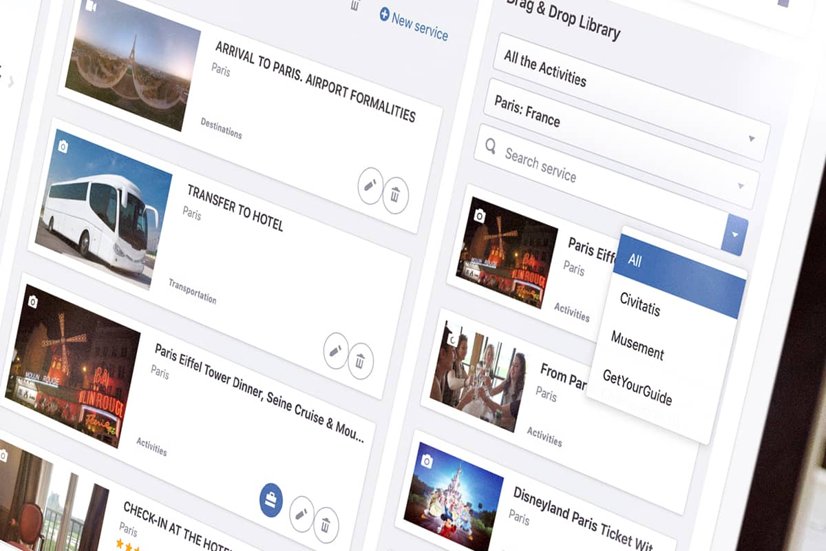 Viewtravel activities content for impressive travel itinerary creation