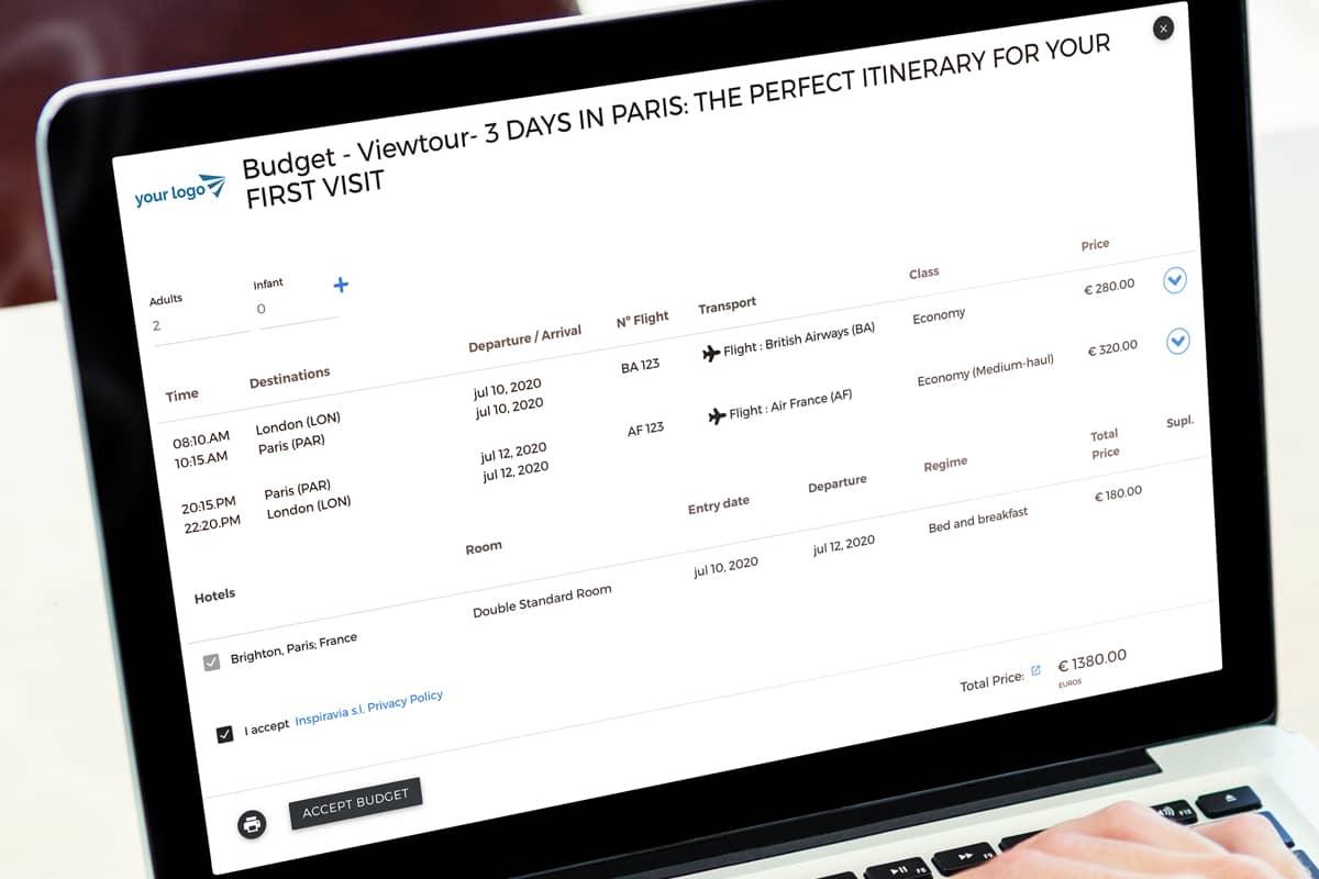 Viewtravel Budget and Trip Quotation Presentation